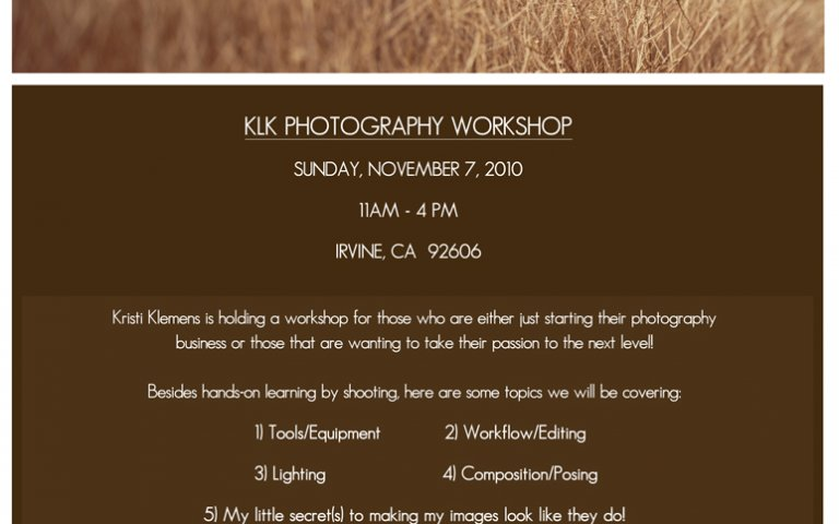 Photography Workshop by KLK Photography