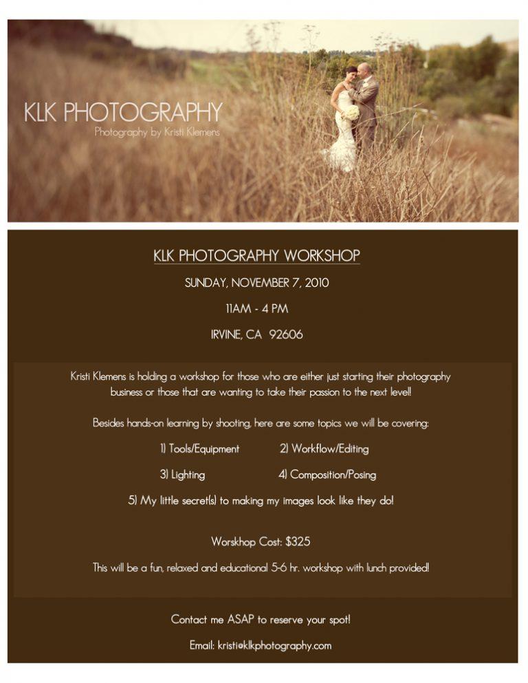 Photography Workshop by KLK Photography