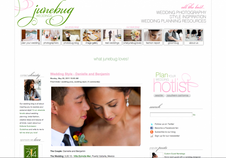 KLK PHOTOGRAPHY: Featured on Junebug Weddings!
