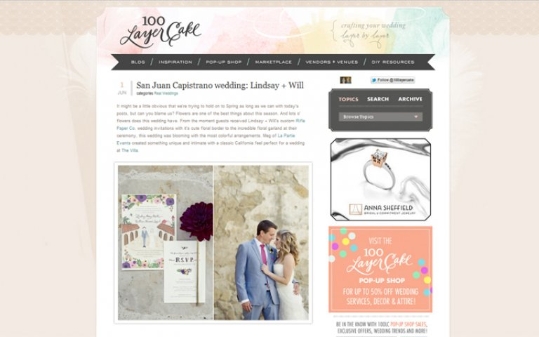 KLK Photography Featured on 100 Layer Cake!