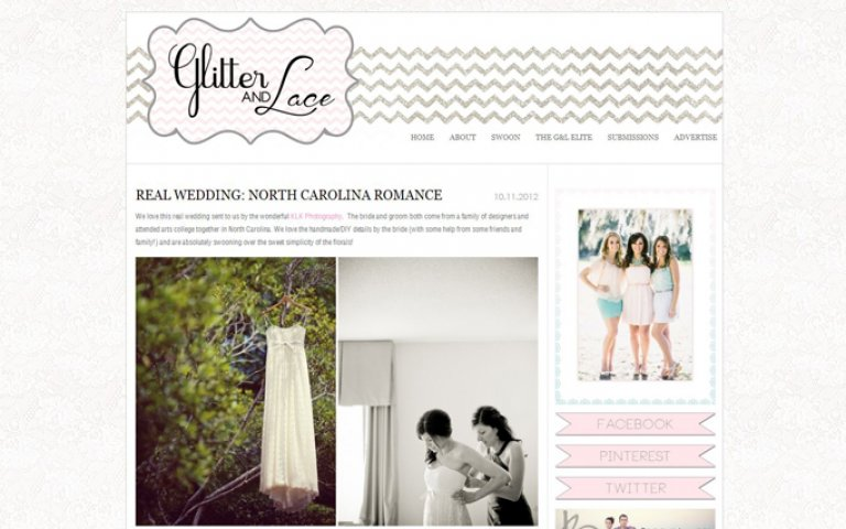 KLK Photography | North Carolina Wedding Featured on Glitter and Lace!