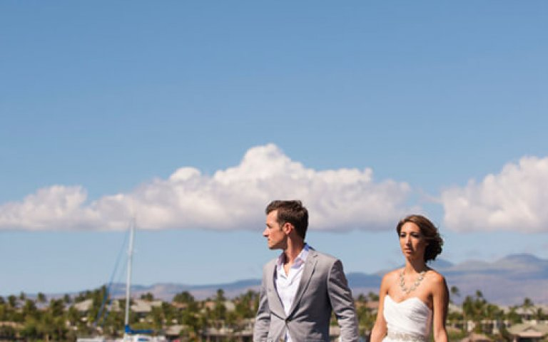 Kona Hawaii Wedding Photographer | Kristin & Garrett Waikoloa Wedding Teasers!