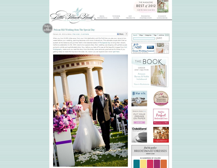 the special day, alysium, klk photography, pelican hill, kelly zhang